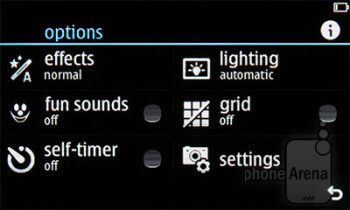 Camera interface - Nokia Asha 305 Review