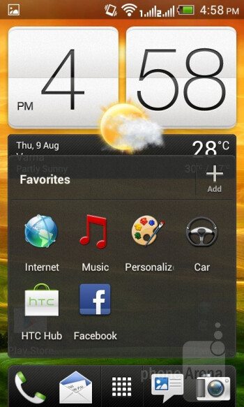 The HTC Desire V comes with Sense UI running on top of Android 4.0 Ice Cream Sandwich - HTC Desire V Review