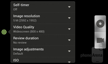 Camera interface - HTC Desire V Review