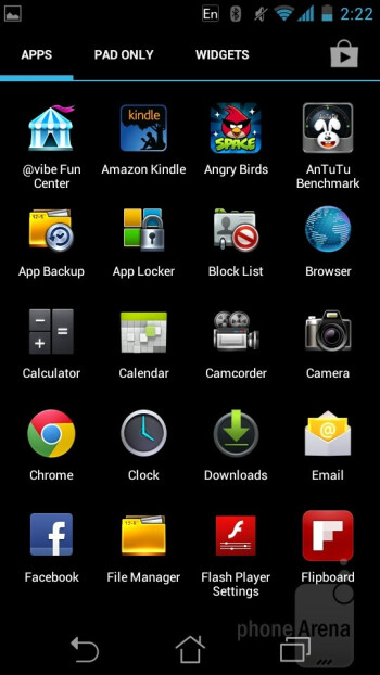The Asus PadFone ships with Android 4.0 Ice Cream Sandwich with a very light Asus skin on top of it - Asus PadFone Review