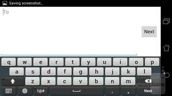 On-screen keyboard - Asus PadFone Review