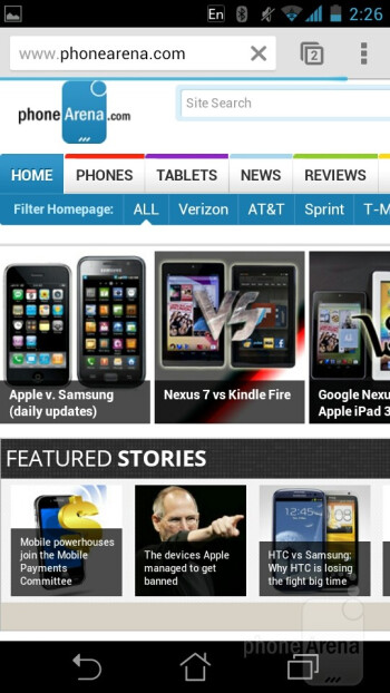 Internet browsing - Asus PadFone Review