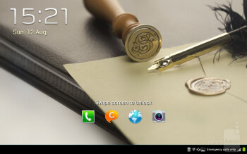 Samsung Galaxy Note 10.1 runs Android 4.0 Ice Cream Sandwich customized with the company's tailor-made TouchWiz UX interface - Samsung Galaxy Note 10.1 Preview