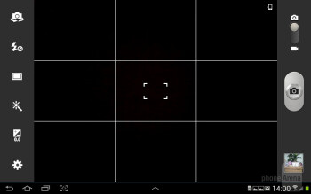 The camera interface - Samsung Galaxy Note 10.1 Preview