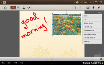 The S Note application comes pre-installed on the Galaxy Note 10.1 - Samsung Galaxy Note 10.1 Preview
