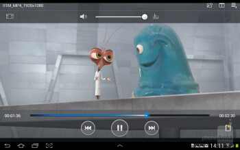Watching videos - Samsung Galaxy Note 10.1 Preview