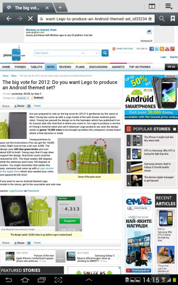 Samsung Galaxy Note 10.1 delivers a rich web-browsing experience - Samsung Galaxy Note 10.1 Preview