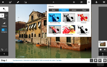 Adobe Photoshop Touch - Samsung Galaxy Note 10.1 Preview