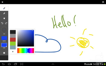 Adobe Ideas also comes pre-loaded - Samsung Galaxy Note 10.1 Preview