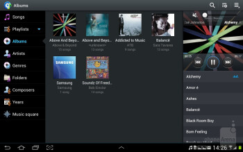 The stock music player on the Samsung Galaxy Note 10.1 - Samsung Galaxy Note 10.1 Preview