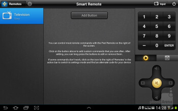 The Smart remote app - Samsung Galaxy Note 10.1 Preview