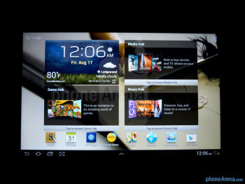 Viewing angles of the Samsung Galaxy Note 10.1 - Samsung Galaxy Note 10.1 Review