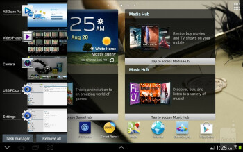 The interface of the Samsung Galaxy Note 10.1 - Samsung Galaxy Note 10.1 vs Apple iPad 3