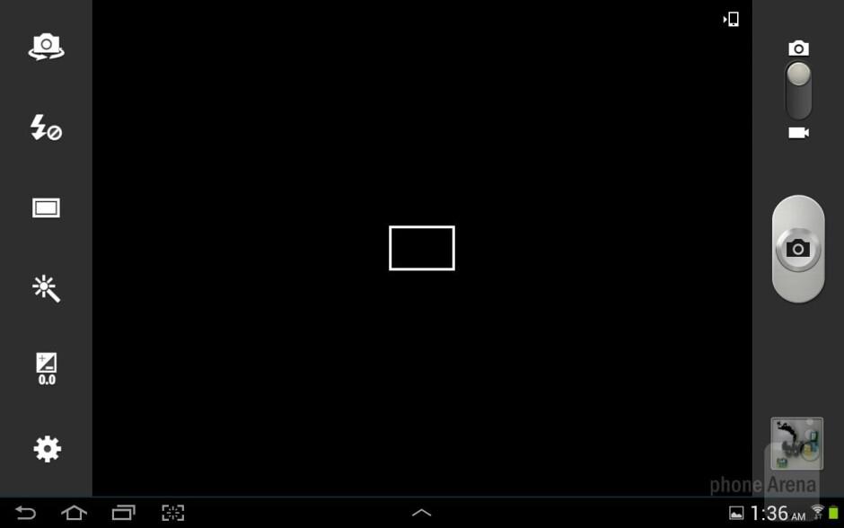 Camera interface of the Samsung Galaxy Note 10.1 - Samsung Galaxy Note 10.1 vs Apple iPad 3