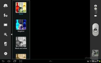 Camera interface - Samsung Galaxy Note 10.1 Review