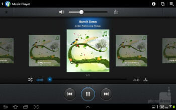 Music player of the Samsung Galaxy Note 10.1 - Samsung Galaxy Note 10.1 vs Apple iPad 3