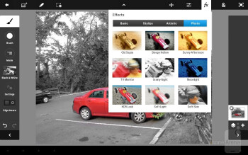 Adobe Photoshop Touch app - Samsung Galaxy Note 10.1 Review