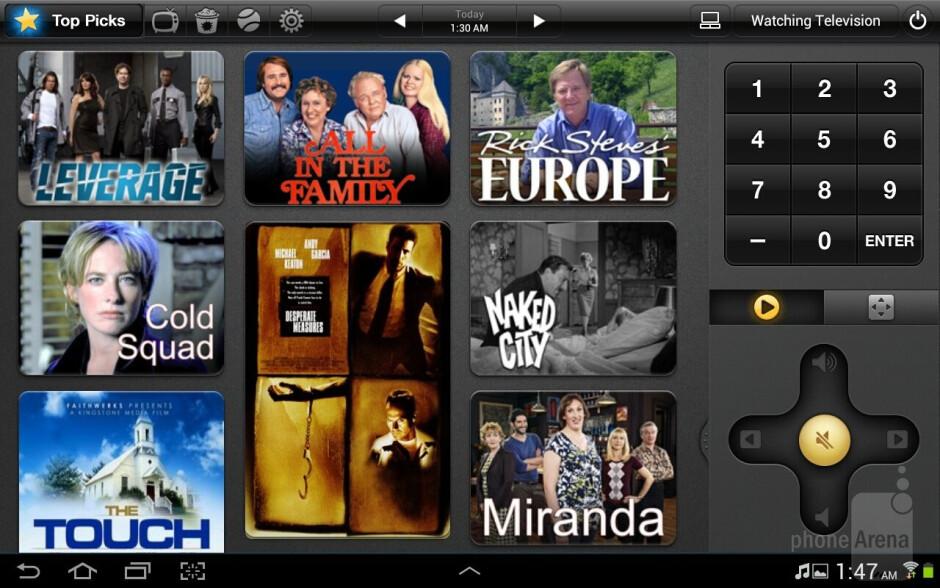 The Peel Smart Remote app - Samsung Galaxy Note 10.1 vs Apple iPad 3