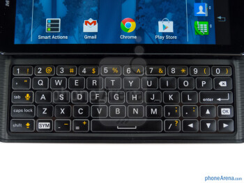 The 5-row QWERTY keypad - Motorola PHOTON Q 4G LTE Review