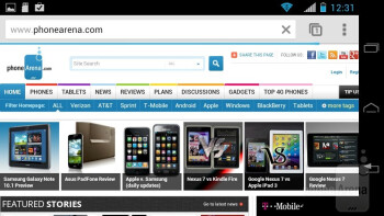 Web browsing - Motorola PHOTON Q 4G LTE Review