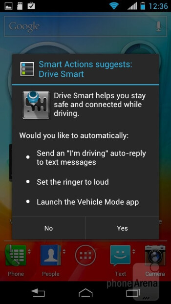 The Smart Action app - Motorola PHOTON Q 4G LTE Review