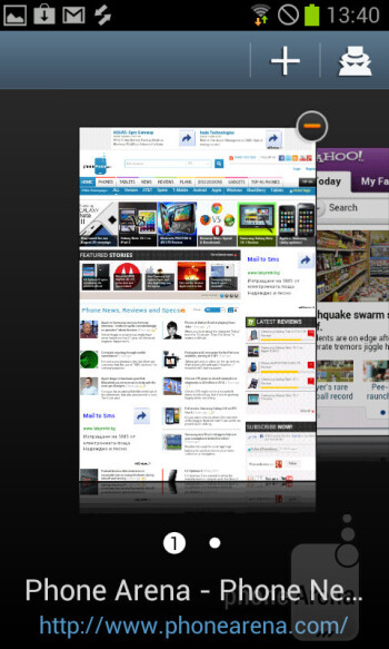 The stock web browser on Android 4.0 is pretty functional - Samsung Galaxy S Duos Preview