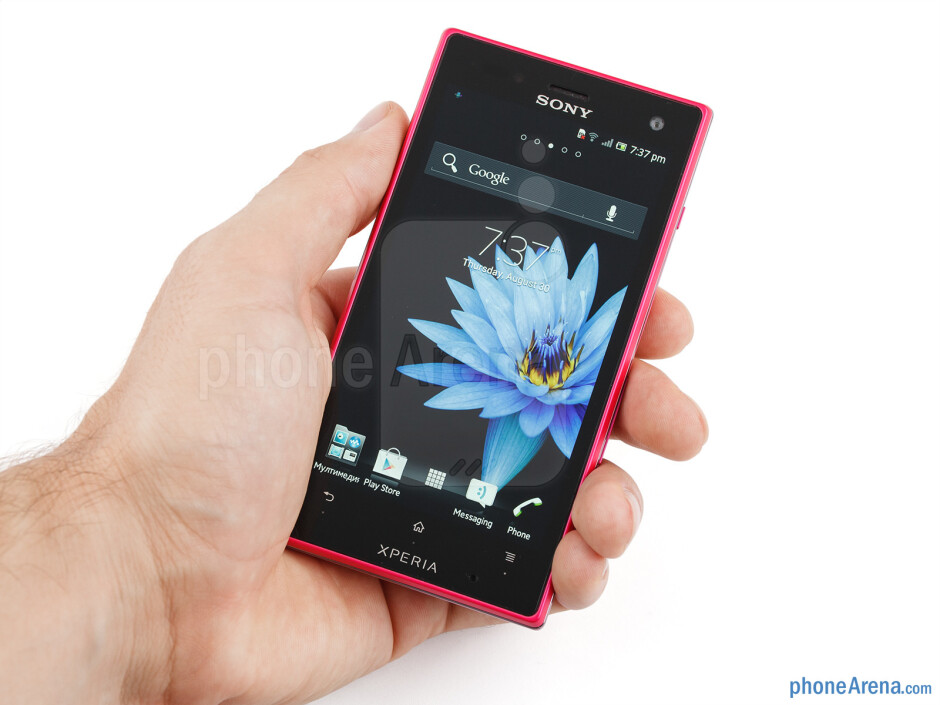 The pink Sony Xperia acro S looks incredibly attractive - Sony Xperia acro S Review