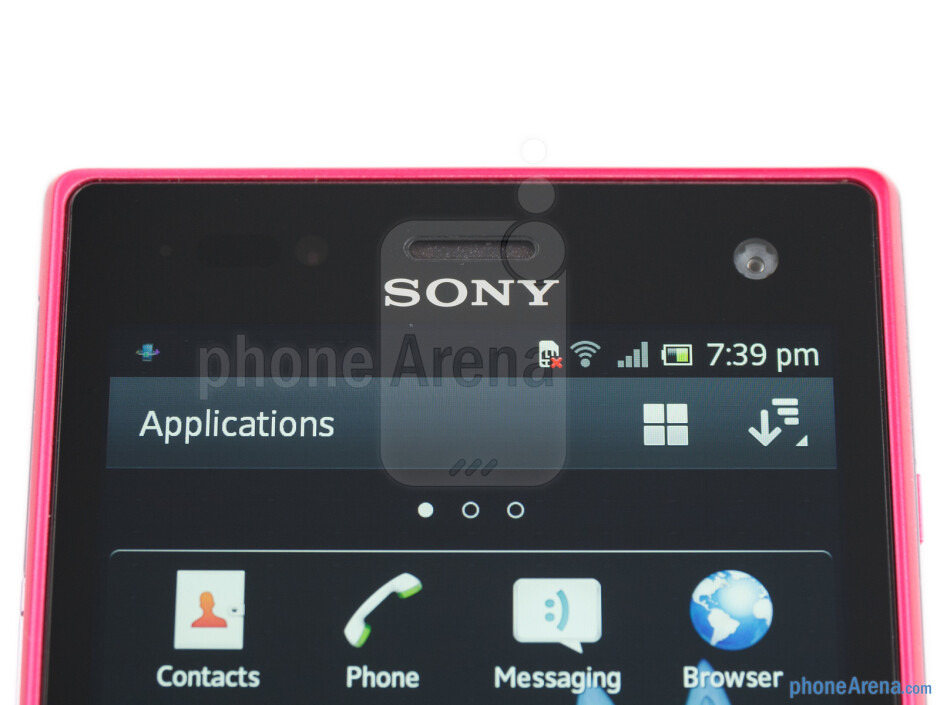 Front-facing camera - Sony Xperia acro S Review