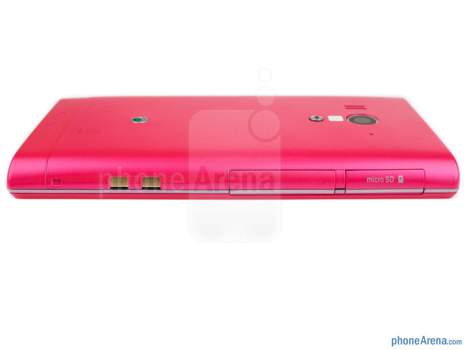 Left edge - The sides of the Sony Xperia acro S - Sony Xperia acro S Review
