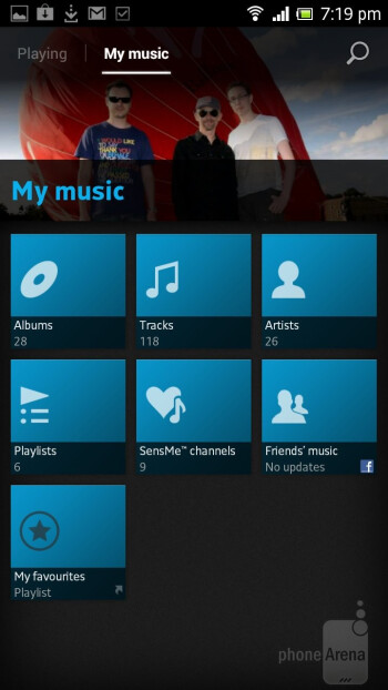 The Walkman music player is what plays back your audio files - Sony Xperia acro S Review
