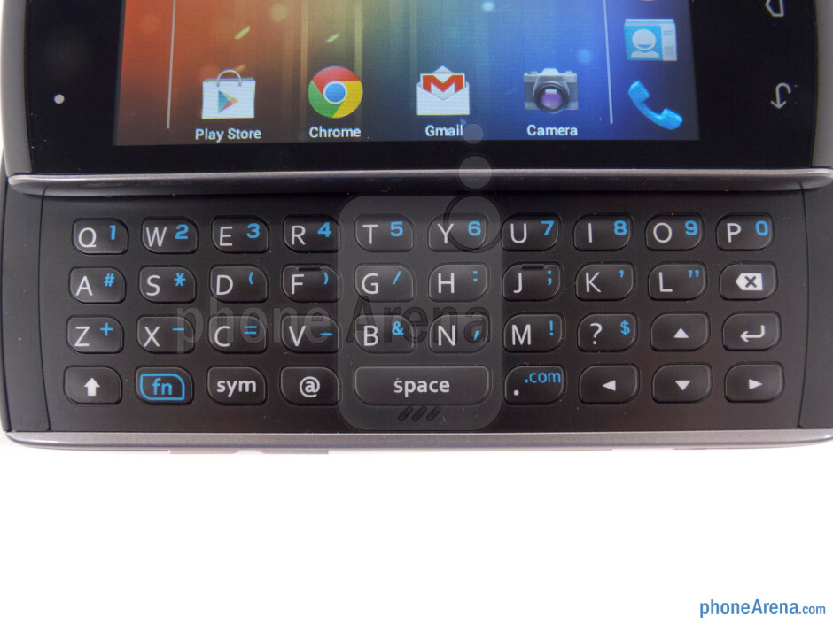 The keyboard - Kyocera Rise Review