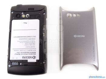 Battery compartment - The back of the Kyocera Rise - Kyocera Rise Review