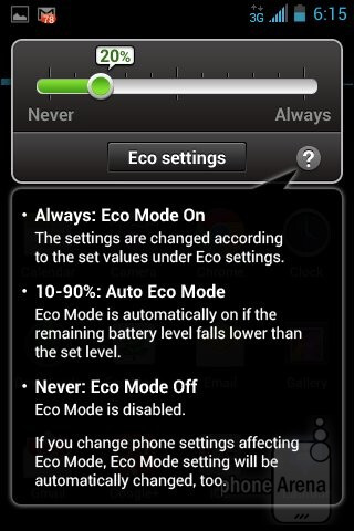 The Eco Mode app - Kyocera Rise Review
