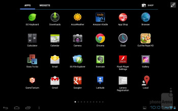 The Lenovo IdeaTab A2109 is running a slight customization on top of Android 4.0.4 Ice Cream Sandwich - Lenovo IdeaTab A2109 Review