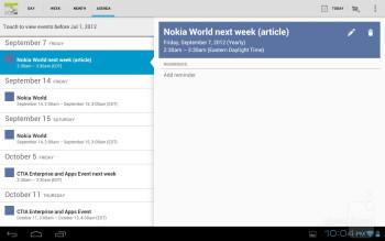 Organizer apps - Lenovo IdeaTab A2109 Review