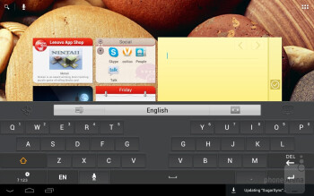 We're presented with two keyboard options - Lenovo IdeaTab A2109 Review