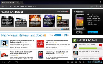 Internet browser - Lenovo IdeaTab A2109 Review