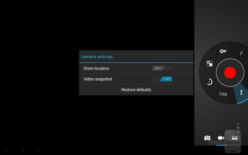 Camera interface - Lenovo IdeaTab A2109 Review