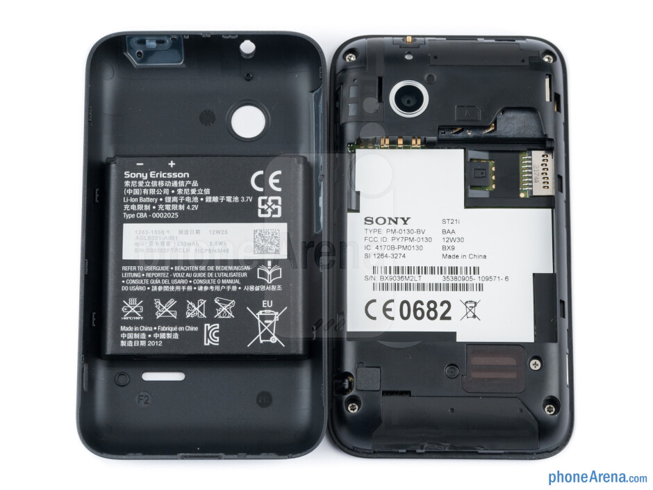 Battery compartment - Sony Xperia tipo Review