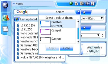 Themes - Interface - Nokia N800 Internet Tablet Review
