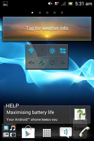 We have Sony's usual Timescape UI over Android 4.0 ICS on the Xperia tipo - Sony Xperia tipo Review