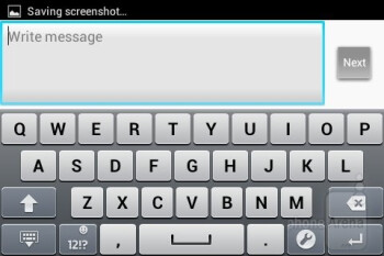 On-screen keyboard - Sony Xperia tipo Review