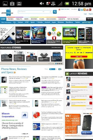 Web browsing with the Sony Xperia tipo - Sony Xperia tipo Review