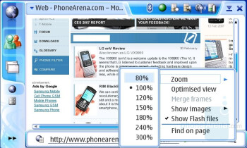 PhoneArena.com - Internet Browsing - Nokia N800 Internet Tablet Review