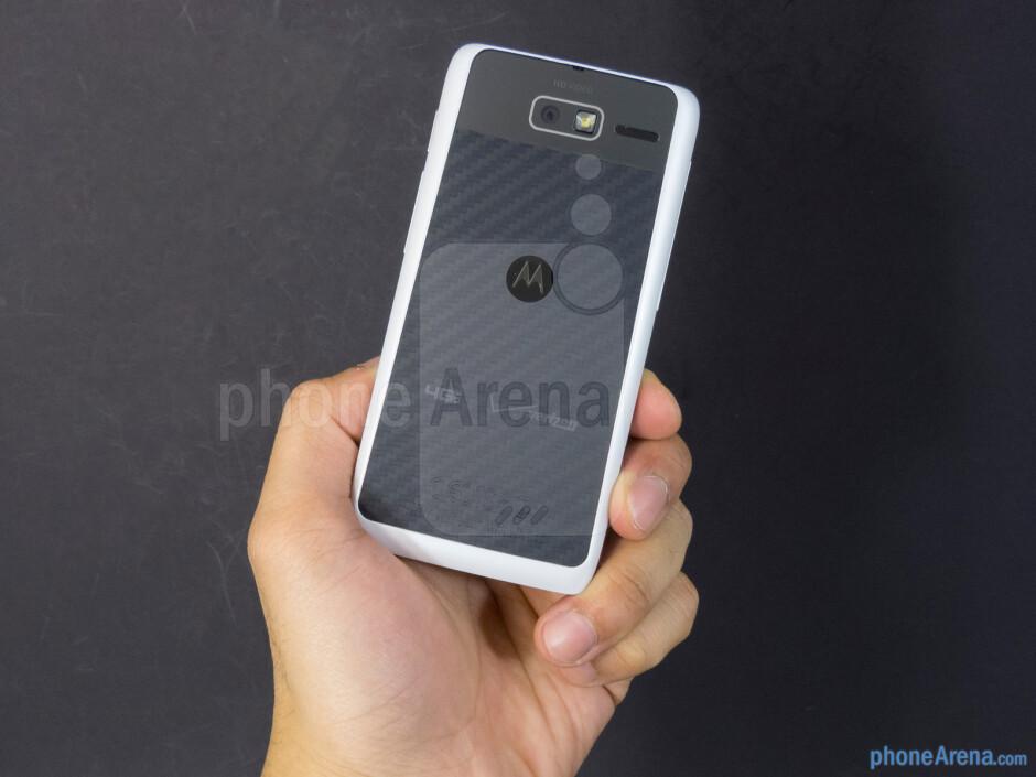 The Motorola DROID RAZR M is undeniably easy to handle in the hand - Motorola DROID RAZR M Review