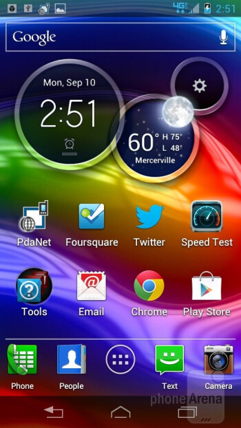 The Motorola DROID RAZR M is running Android 4.0 Ice Cream Sandwich out of the box - Motorola DROID RAZR M Review