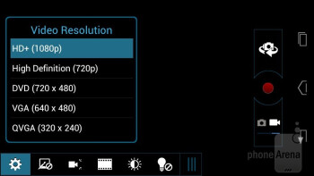 Camera interface - Motorola DROID RAZR M Review