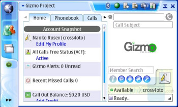 VoIP using Gizmo - Nokia N800 Internet Tablet Review