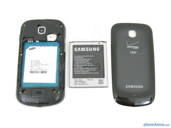 Battery compartment - The sides of the Samsung Galaxy Stellar - Samsung Galaxy Stellar Review