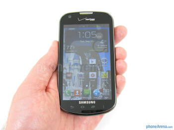 The Samsung Galaxy Stellar features a basic all-black plastic form and finish - Samsung Galaxy Stellar Review